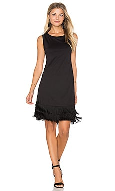 Fringe Sleeveless Mini Dress in Black