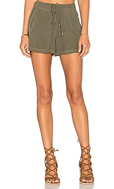 Rayon Voile Short in Olive