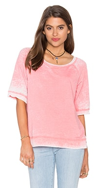 Burnout Active Short Sleeve Sweatshirt in Sunkissed Pink