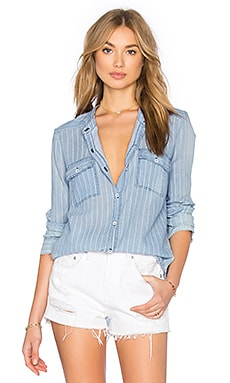 Oroya Indigo Railroad Button Up in Light Wash
