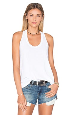 Vintage Whisper Twist Back Tank in Paper