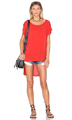 Hi Low Tee in Wild Rose