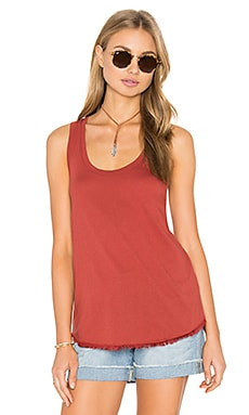Fringe Tank in Brick Red