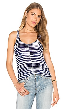 O'Keeffe Stripe Loose Knit Tank in Navy