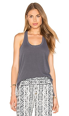 Vintage Whisper Twist Back Tank in Lead