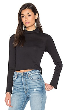 1x1 Cropped Turtleneck in Black