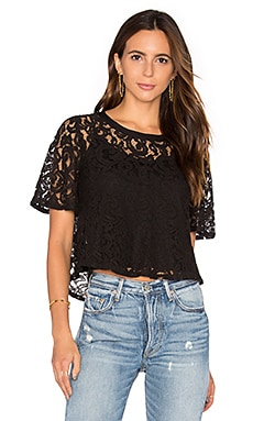 Lace Crop Top in Black