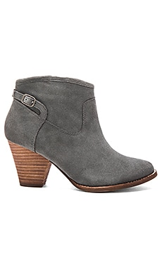 Rebekah Bootie in Dark Gray Suede