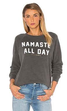 Namaste All Day Pullover in Vintage Black