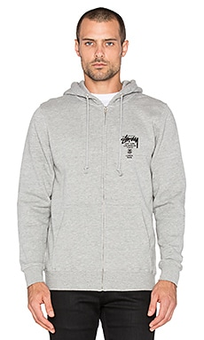World Tour Zip Hoodie in Grey Heather