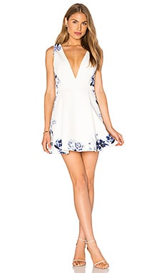 Seine Floral Plunge Dress in Seine Floral