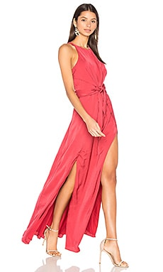 Hera Maxi Dress in Earth Red