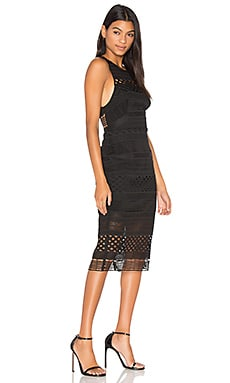 Harper Midi Dress in Noir