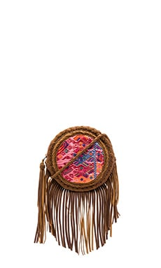 Zacapa Fringe Textile Canteen Bag in Camel
