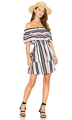 Avery Dress in Harlequin Stripe