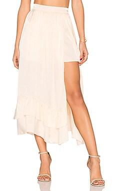 Harper Midi Skirt in Pale Gold