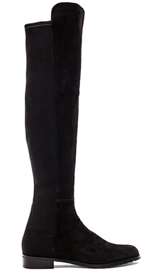 5050 Stretch Boot in Black Suede