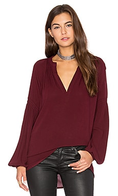 Pamela Top in Garnet