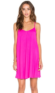 Very V Drape Mini Dress in Pink Glo