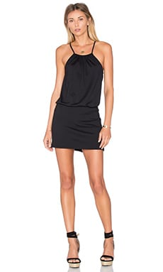 Drape Mini Dress in Black