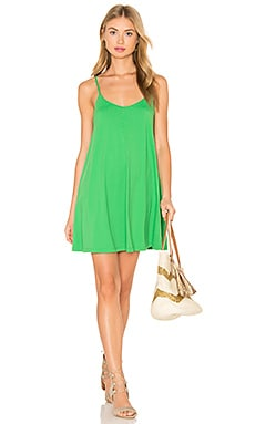 Very V Drape Dress in Leek