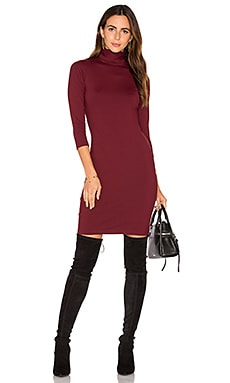 Cat Dress in Oxblood