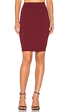 Pencil Skirt in Oxblood