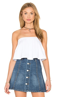 Pleated Crop Top in Sugar
