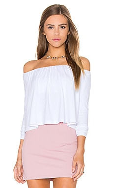 Molly Off the Shoulder Top in Sugar
