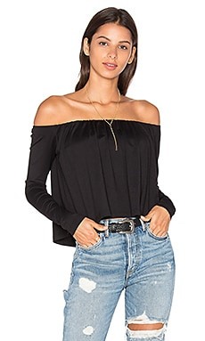 Molly Off the Shoulder Top in Black