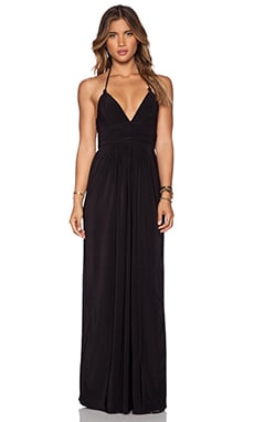 X Back Maxi Dress in Black