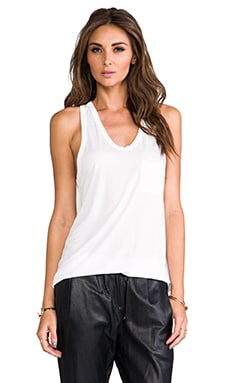 Classic Tank with Pocket in White