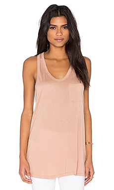 Classic Tank with Pocket in Blush