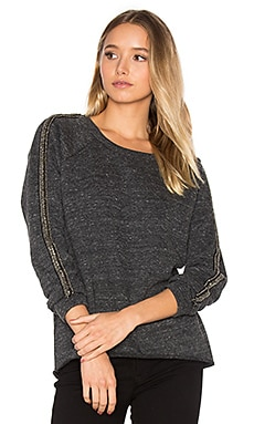 Beaded Sweatshirt in Charcoal