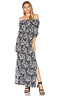Sage Maxi Dress in Folk Black