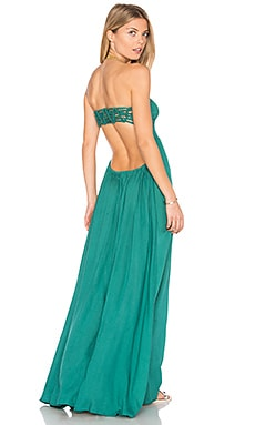 Kai Strapless Maxi Dress in Forest Green