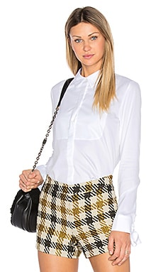 Tuxedo French Cuff Top in White
