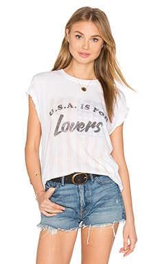 USA Is For Lovers Rolling Tee in White