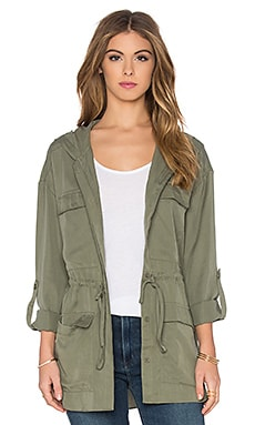 Hooded Anorak Jacket in Khaki