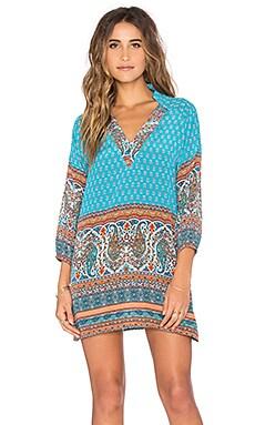 Nisha Dress in Turquoise