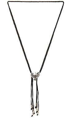 Braided Bird Bolo in Silver Ox