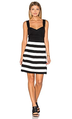 Envy Dress in Black & Whitewash