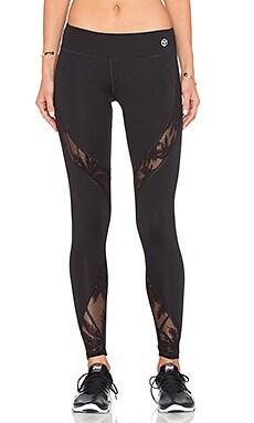 Island Mesh Full Length Legging in Black