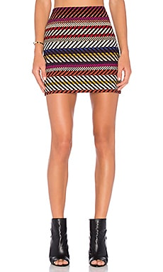 Rico Mini Skirt in Multi