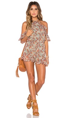 x REVOLVE Waterfalls Backless Romper in Spring Floral