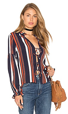 Nala Blouse in 70's Stripe