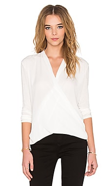 Wrap Blouse in Off White
