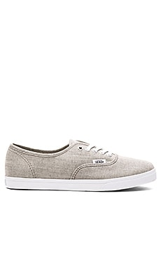 Floral Chambray Authentic Lo Pro Sneaker in Gray & True White