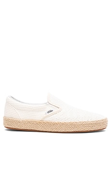 Mesh Classic Slip-On Espadrille in True White