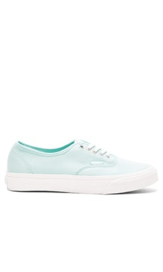 Brushed Twill Authentic Slim Sneaker in Blue Light & Blanc de Blanc